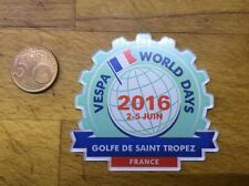 Placca Vespa World Day 2016 Saint Tropez (Plexiglass)
