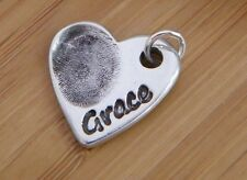 FINGERPRINT JEWELLERY- Personalised silver fingerprint charm