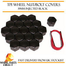 TPI Injected Black Wheel Bolt Nut Covers 19mm for Alfa Romeo 156 97-07