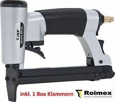 TJEP 80/16 Klammergerät Druckluftnagler + 1 Box Heftklammern von 4-16mm