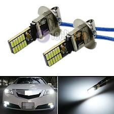6500K HID Xenon White 24-SMD-4014 H3 LED Bulbs for Fog Lights or Driving Lamps
