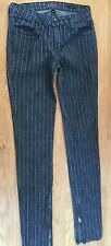 LUX Urban Outfitters RN# 66170 PINSTRIPE SKINNY JEANS 28 TAPERED 2% Spandex