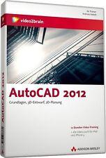 video2brain AutoCAD 2012, Grundlagen, 12 Stunden Video-Training auf DVD, NEU