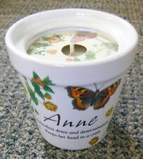 History & Heraldry Anne Perfume / Aroma Candle in Ceramic Floral Design Pot