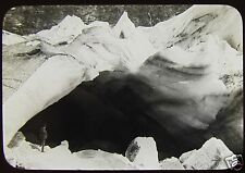 Glass Magic Lantern Slide BOIUMS GLACIER NORWAY C1910 PHOTO
