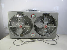 Vintage GE Dual Fan w/Auto Thermostat Control