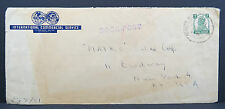 India postage 9 PS ICS India Book post COVER NEW YORK USA lettera EF (Lot 5506