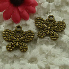 free ship 40 pieces bronze plated butterfly charms 24x21mm #3030