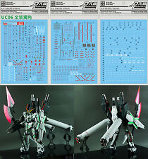 D.L high quality Decal water paste For Bandai MG RX-0 Full Armor Unicorn Gundam
