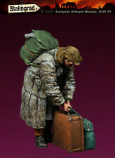 1/35 Escala resina modelismo kit WW2 Europea Civil 1939-45 Refugiado Woman #2