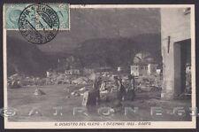 BRESCIA DARFO 39 Il DISASTRO del GLENO 1 Dicembre 1923 Cartolina viaggiata 1923