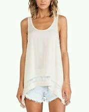 New Free People Outlined High Low Hem Cami Top PINK $58.00 SMALL