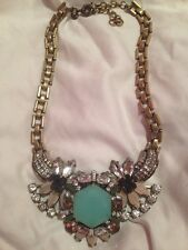 Authentic J Crew Crystal Statement Necklace ~ Vintage Look ~ Extremely Rare!