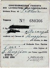 Regno d'Italia confederazione lavoratori agricoltura 1940