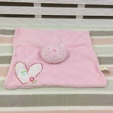 Adams Little Bundle Pink Cat Comforter Blanket Blankie Doudou Heart & Flower