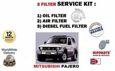 FOR MITSUBISHI PAJERO 2.5D 2.8TD 91-2000 OIL AIR DIESEL FUEL FILTER SERVICE KIT