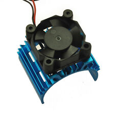1:10 RC Model Car Alloy Heat Sink for 540 550 Motor DC 5V Cooling Fan Blue NEW
