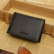 Men's Leather Wallet Bifold ID Credit Card Holder Mini Purse Money Clip Purse