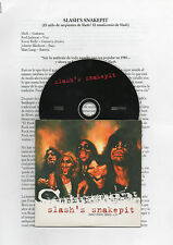 "SLASH'S SNAKEPIT ""BEEN THERE LATELY"" PROMO CD SINGLE + SPANISH PRESS DOSSIER"