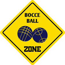 "*Aluminum* Bocce Ball Zone Funny Metal Novelty Sign 12""x12"""