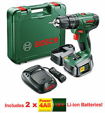 Bosch 18v Li-ion Combi Hammer Drill inc 2x Batteries! PSB 1800 Li-2  *BRAND NEW*
