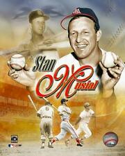 STAN MUSIAL ~ 8x10 Color Photo Picture Collage ~ St. Louis Cardinals