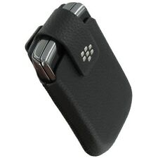 OEM New BlackBerry Genuine Torch 9800 Leather Swivel Holster Clip Pouch Case