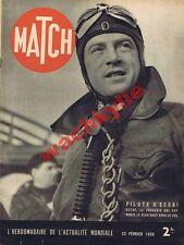Match n°34 du 23/02/1939 pilote aviation Detré Ukraine publicité carnaval  Nice