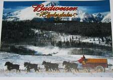 Budweiser Draft Horses Wagon in Winter  art print