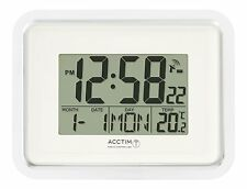 Acctim Delta controlados por radio Reloj De Pared MSF Señal Digital Calendario Temperatura