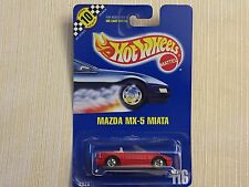 HOT WHEELS 1990 RED MAZDA MIATA MX-5 #116