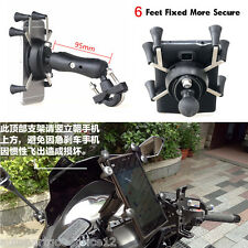 "Motorcycle 3.5-6"" Mobile Phone Mount Holder 6 Feet For GPS/ iPhone 5/6/6S/Plus/7"
