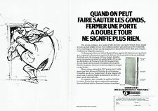 PUBLICITE ADVERTISING 027  1978  les serrures Fichet   points forts ( 2 pages)