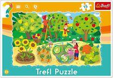 Trefl 15 Pezzi Bambini Bimbi Unisex Agricoltura Giardino Telaio Pavimento Puzzle