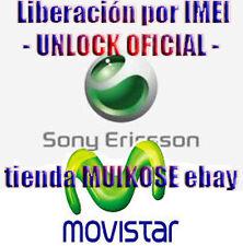 Liberar Sony Xperia m m1 m2 P,U,S  MOVISTAR España por codigo IMEI express