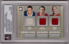 DAVE KEON JEAN BELIVEAU BOBBY HULL 06/07 ITG ULTIMATE Triple Thread Jersey # /25
