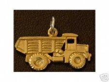 LOOK Sterling Silver DUMP TRUCK Charm pendant Gold Plated