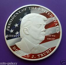 President Donald J. Trump Collector Silver Clad Coin + FREE DISPLAY STAND & CASE