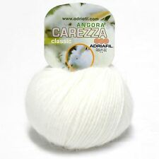 Adriafil Carezza Angora Aran Yarn / Wool 25g - White (02)
