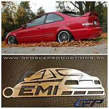 JDM 99-00 Honda Civic EM1 SIR Steel metal Custom Key chain ej ek
