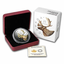 CANADA 2016 25 Cent 5oz FINE SILVER COIN - BIG COIN SERIES Caribou