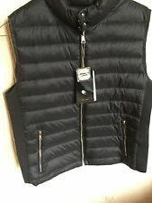 ZARA Black Lightweight Down Puffer Waistcoat Quilted Jacket Gilet Extra Large XL