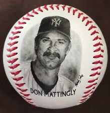 DON MATTINGLY 1996 BURGER KING Give Away Photo Ball NY YANKEES BASEBALL Free S&H
