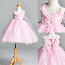 NEW Wing Application Dress Flower Girl Bridesmaid Holiday Pageant Recital #33