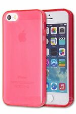 Apple iPhone 5 5S Safety Back Case Cover Skin Slim Silicone Rubber Gel TPU Soft