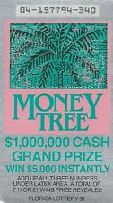 1988 Unscratched Florida Lottery Ticket MONEY TREE