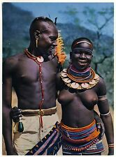 East Africa JUNGES PAAR Meru YOUNG COUPLE Kenya * 60s Ethnic Nude PC