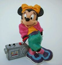 Vtg 80's DISNEY Bully (West Germany) MINNIE MOUSE w/ hip-hop boom box PVC figure