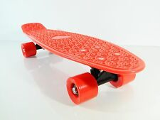 "Kids 22"" x 6"" Red Plastic Board Mini Cruiser Skateboard (For Age 4-12)"