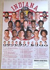 INDIANA UNIVERSITY HOOSIERS 2016-17 B1G MENS BASKETBALL POSTER/SCHEDULE LARGE